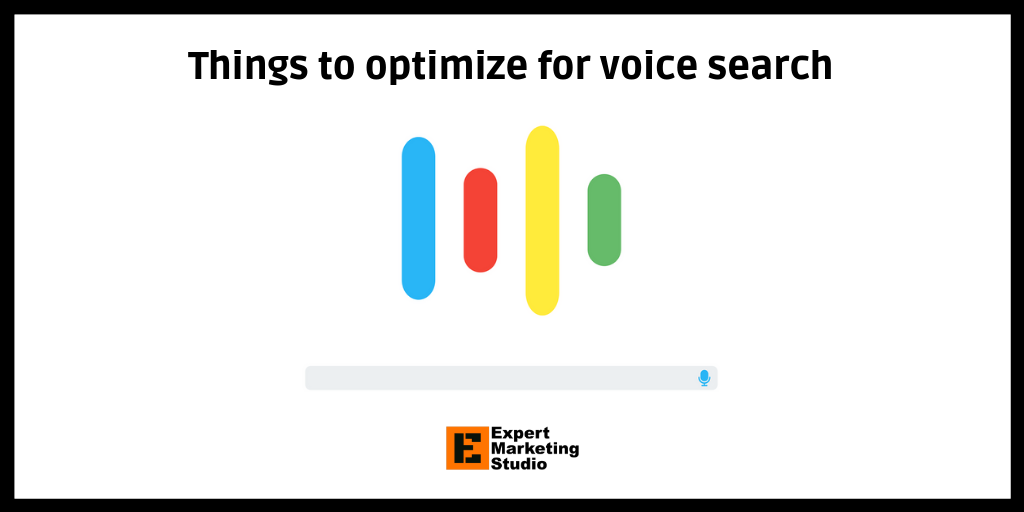 Things to optimize for voice search