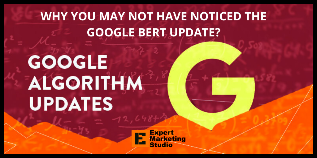 WHY YOU MAY NOT HAVE NOTICED THE GOOGLE BERT UPDATE?
